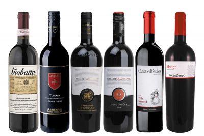Weinpaket Italiens Rotwein-Klasse