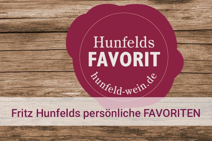 Hunfelds Favorit  Tipp Empfehlung Weine mit persönlichem Siegel Weißwein Rotwein Rosé