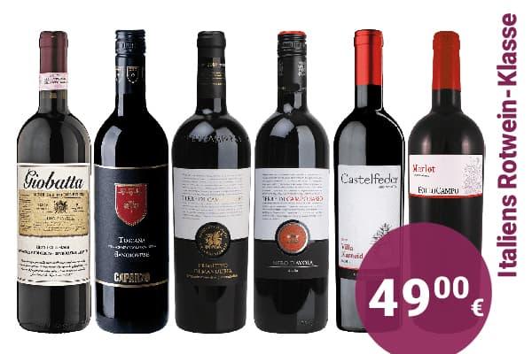 Hunfeld Wein Paket Weinpaket Entdeckerpaket Italien Rotwein