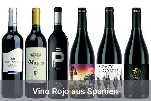 Weinprobierpaket Rotweine aus Spanien Hunfeld Wein
