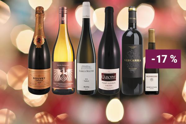 Hunfeld Wein Paket Weinpaket Entdeckerpaket Festtagsweine Weihnachten