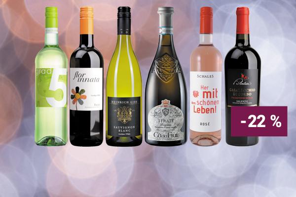 Hunfeld Wein Paket Weinpaket Entdeckerpaket Italiens Rotwein-Klasse