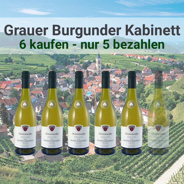 Oberrotweiler Winzerverein Baden Deutschland Aktion Angebot Reduziert Oberrotweiler Henkenberg Grauer Burgunder Kabinett