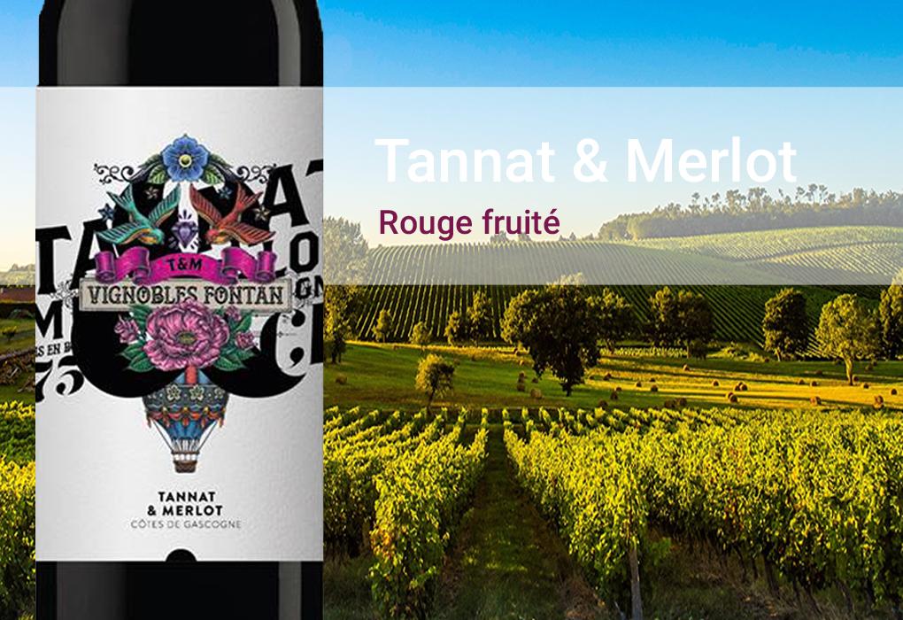 Tannat & Merlot Rouge fruite Frankreich Gascogne Vignobles Fontan  trocken