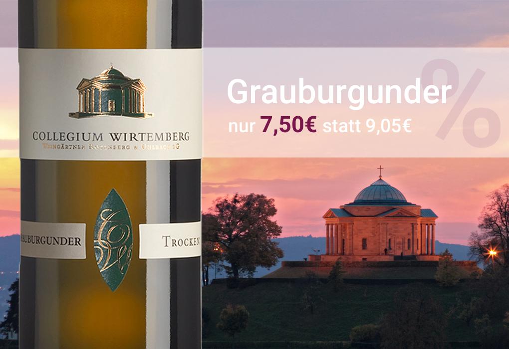 Grauburgunder grauer Burgunder Collegium Wirtemberg Württemberg trocken