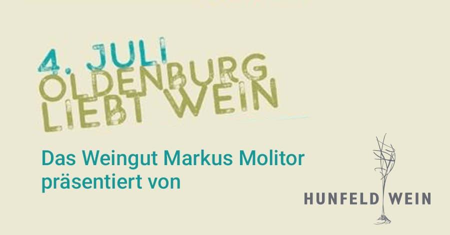 Eintrittskarte 1. Oldenburger wein-Rallye am 04.07.2020 Das Weingut Markus Molitor im altera Hotel präsentiert von Hunfeld Wein