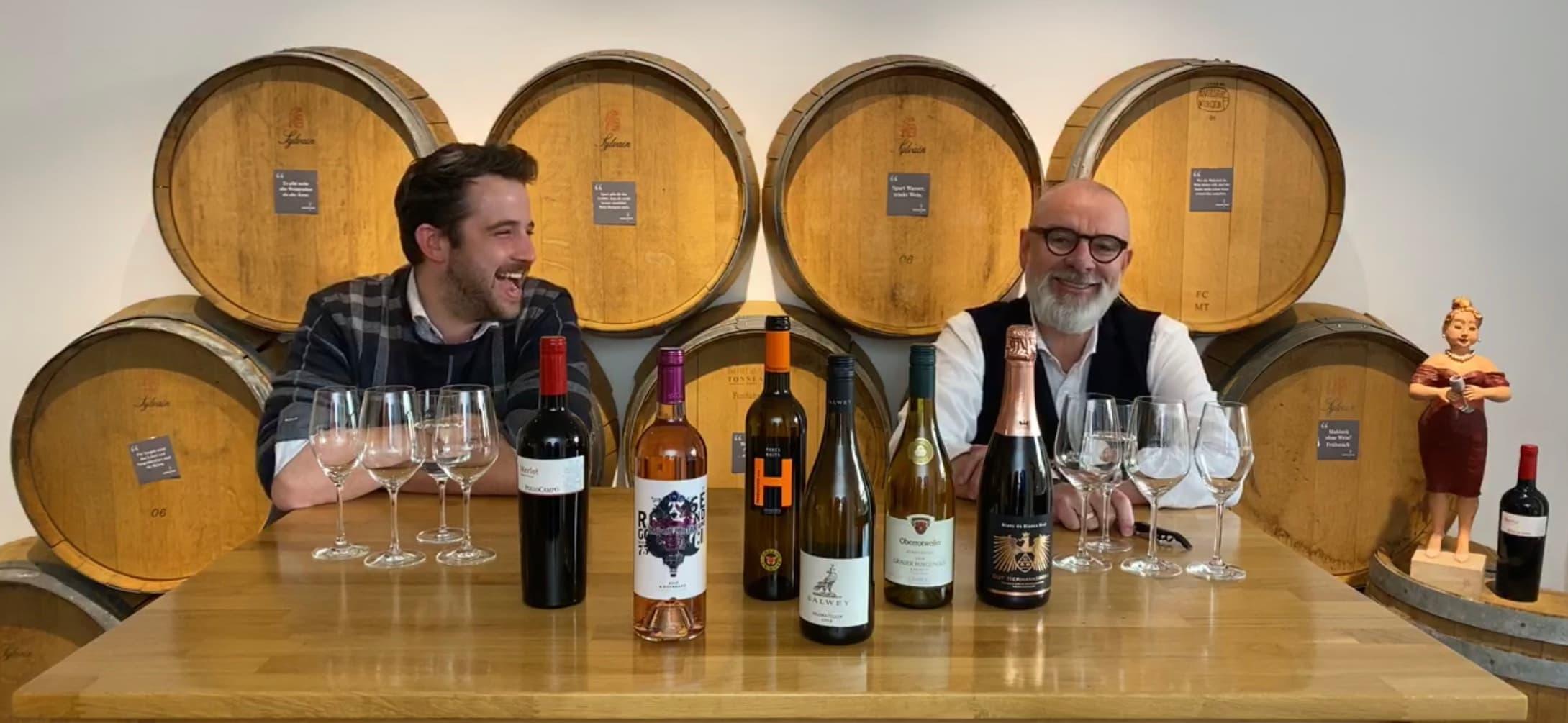 Online Live Weinproben mit Fritz & Simon von Hunfeld Wein